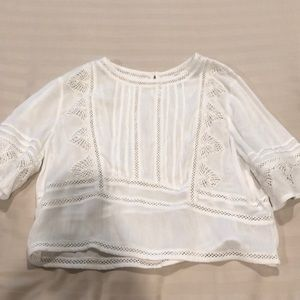 white Amuse Society blouse